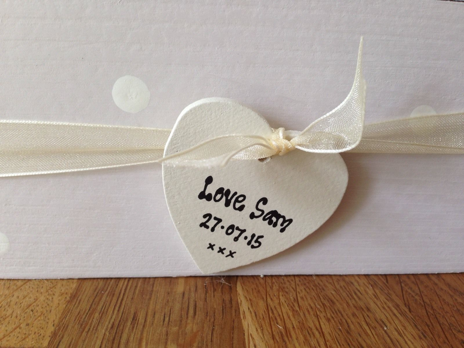Shabby Personalised Chic Father Of The Bride Wedding Thank You Gift
